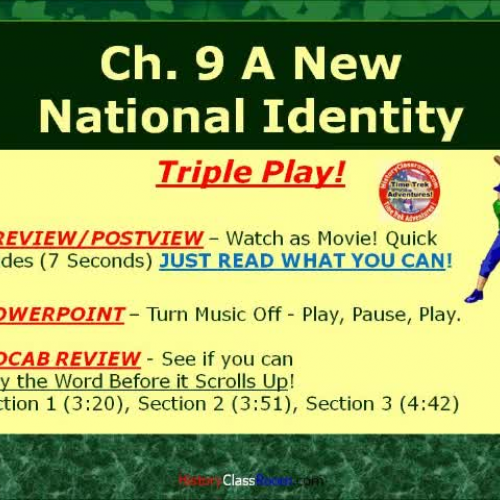 Ch. 9 A New National Identity (Triple-Play US