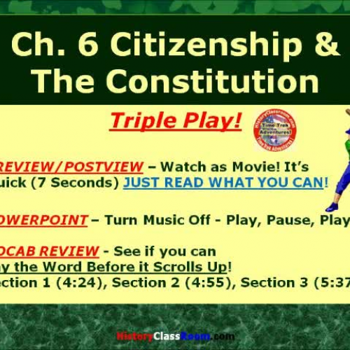 Ch. 6 Citizenship and the Constitution