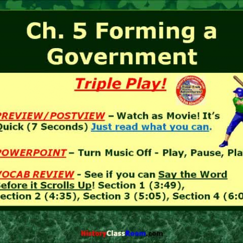 Ch. 5 Forming a New Government (Triple-Play U