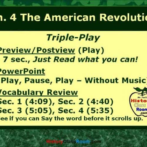 Ch. 4 The American Revolution (Triple-Play US