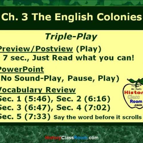 Ch. 3 The English Colonies (Triple-Play USA)