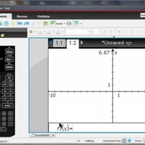 TI-Nspire? CX Handheld: Graphing Functions