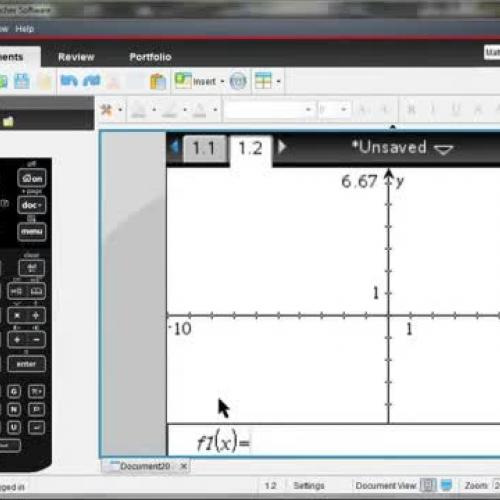 TI-Nspire? CX Handheld: Graph Tools