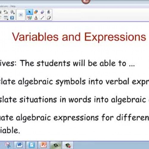 Variables and Expressions - Algebra I Video 1