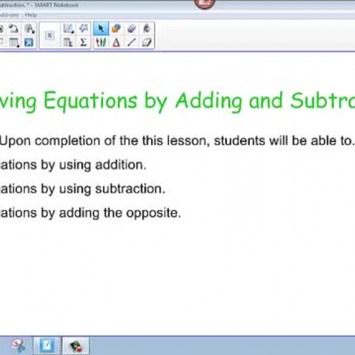 Solving Equations-Addition and Subtraction-Al