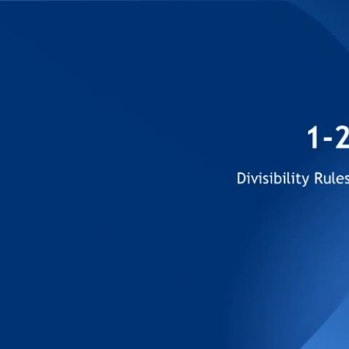 1-2 Divisibility