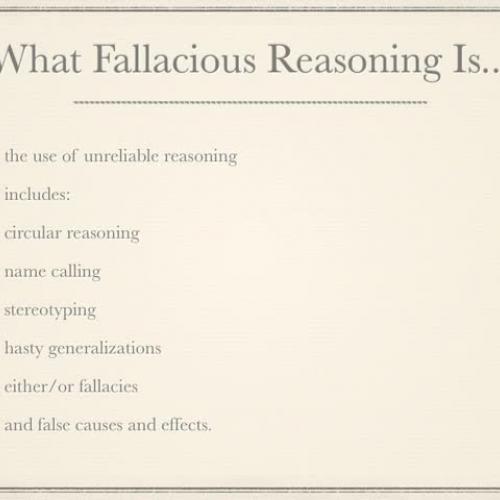 6 Types of Fallacious Reasoning