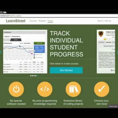 LearnStreet Teacher Dashboard Welcome Video