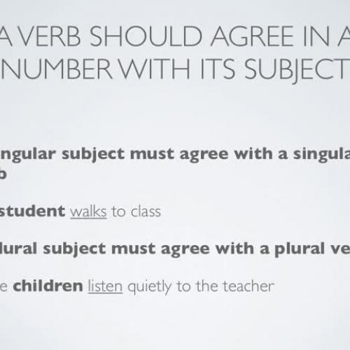Subject-VerbAgreement