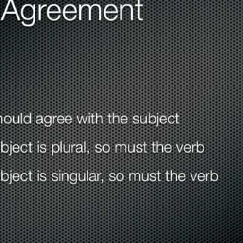 Subject Verb Agreemen