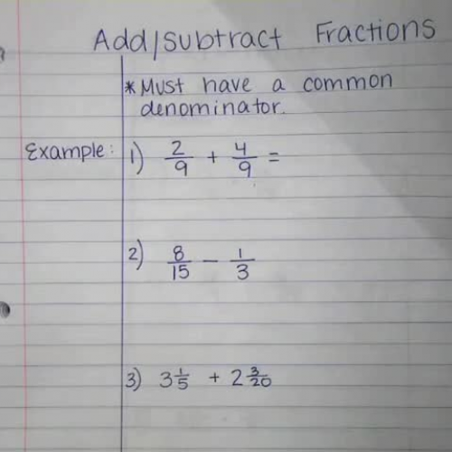 Add/Subtract Fractions