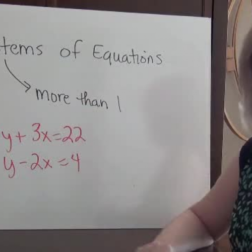 Systems of Equations Review