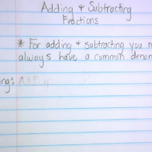 Adding-Subtracting Fractions