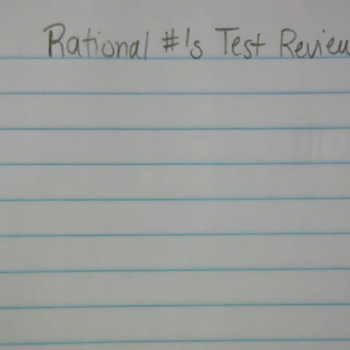 Rational #'s Test Review