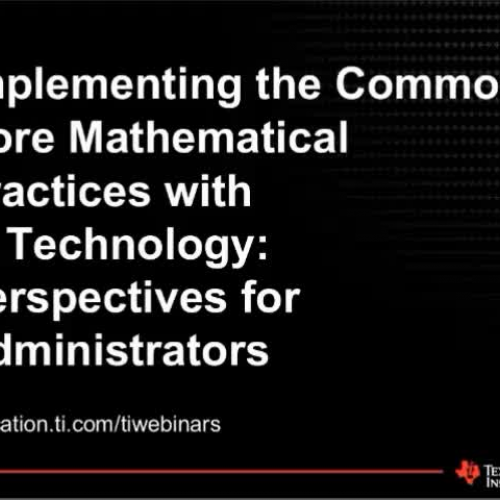 Implementing CCSS for Administrators
