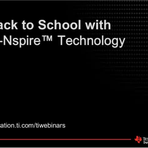 Back to School with TI-Nspire Technology
