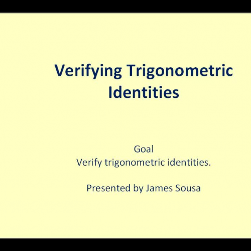 Verifying Trig Identity