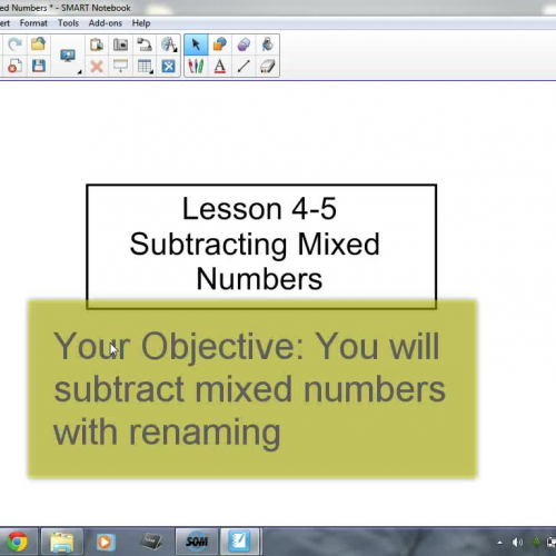 4-5 Subtracting Mixed Numbers