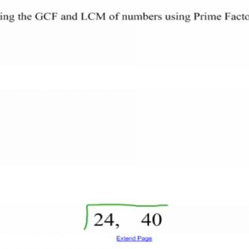 GCF and LCM Using Cake Method-MP4
