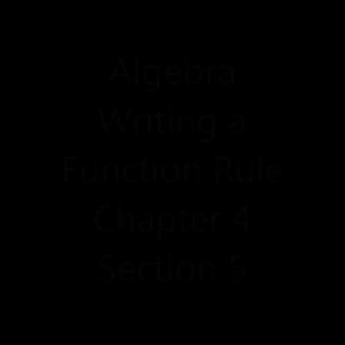 Writing a Function Rule