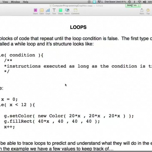 Loops Day 1