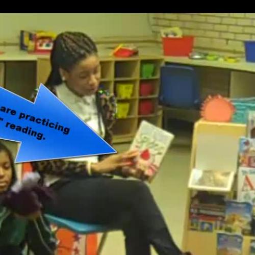 """Interns Practicing """"Circle Time"""" Re"""