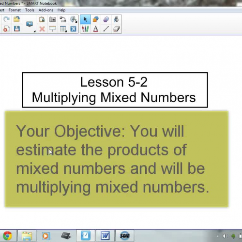5-2 Multiplying Mixed Numbers