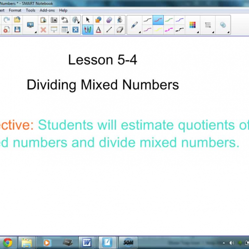 5-4 Dividing Mixed Numbers