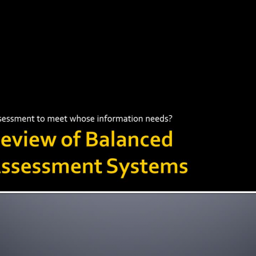 Review of Balanced Assessment Systems