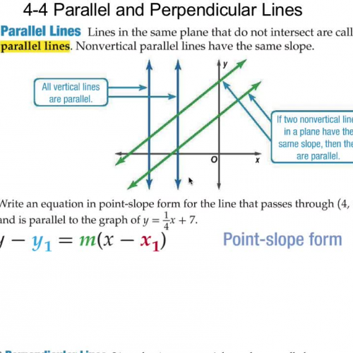 4-4 Parallel and Perpendicular Lines