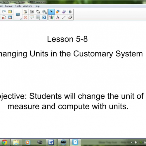 5-8 Changing Units in the Customary System