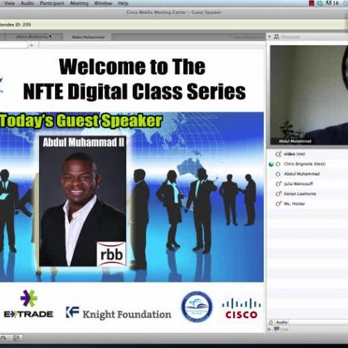 NFTE Virtual Guest Speaker Abdul Muhammad Pt.