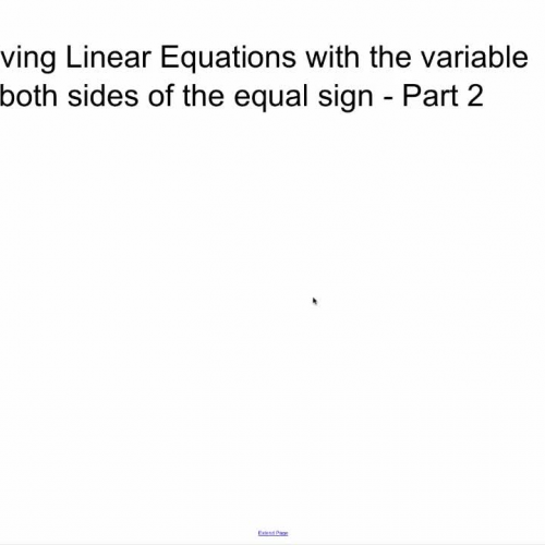 Linear Equations with Variables on Both Sides