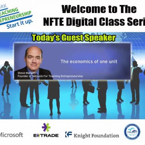 NFTE Founder Steve Mariotti, Online Guest Spe