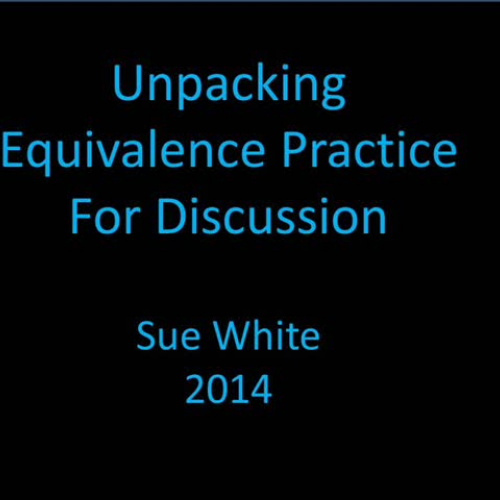 Unpacking Equivalence Practice For Discussion