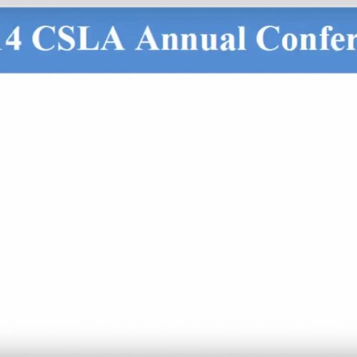 CSLA Annual Conference 2014