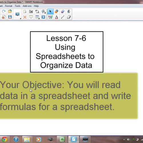 7-6 Using Spreadsheets to Organize Data