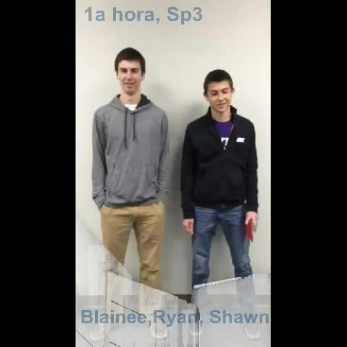1st Period Shawn, Ryan & Blaine Story Tel