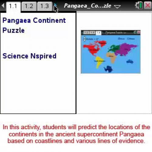 Pangaea Continents [Science Nspired Preview V