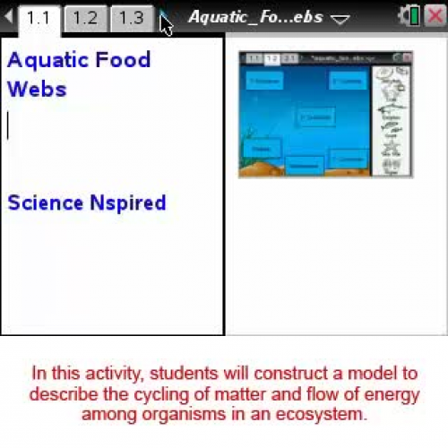 Aquatic Food Webs [Science Nspired Preview Vi