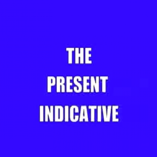 The Present Indicative Song-Bronxville School