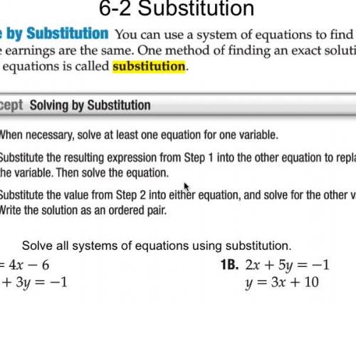 6-2 Substitution