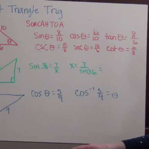 Trig Concepts Review