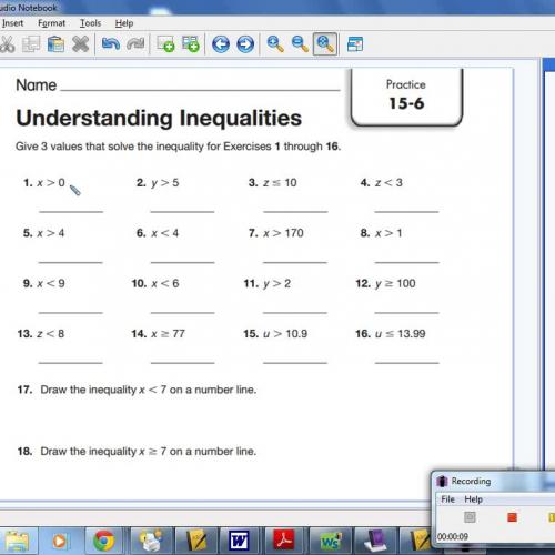 15-6 Understanding Inequalities
