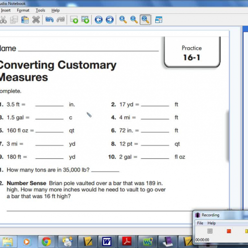 16-1 Converting Customary Measures