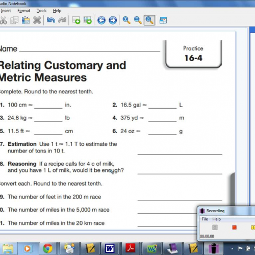 16-4 Relating Customary and Metric Measures
