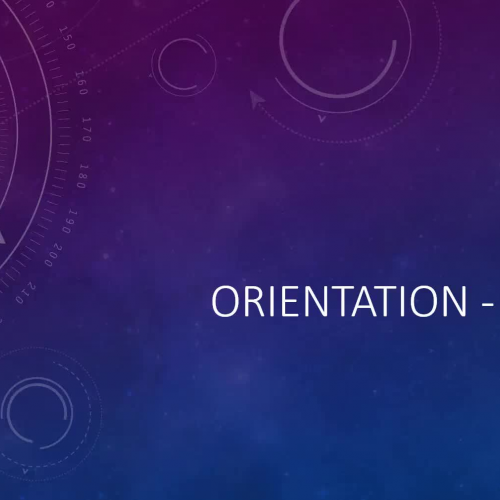 Orientation Notes