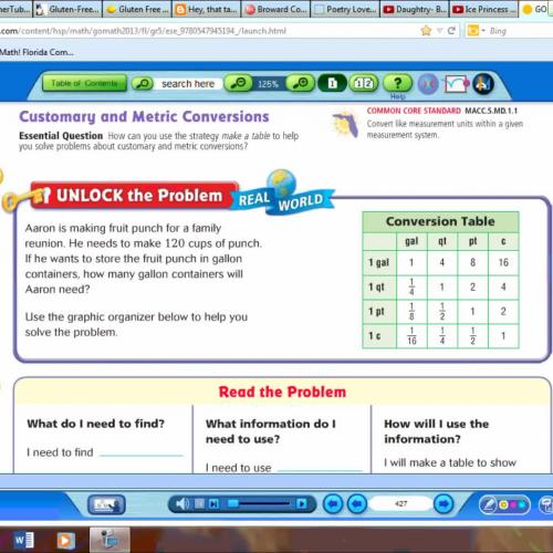 3/15 word problems measurement conversion