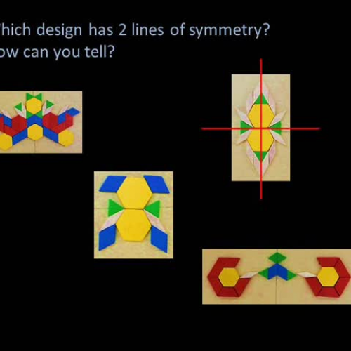 WHICH DESIGN HAS 2 LINES OF SYMMETRY
