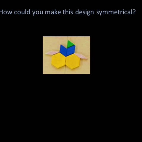 HOW CAN YOU MAKE THESE DESIGNS SYMMETRICAL